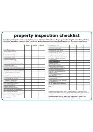 Property Inspection Checklist in PDF