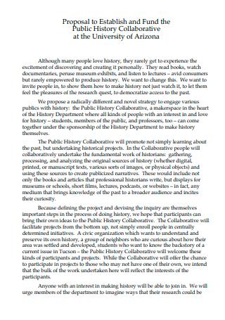 Public History Collaborative Proposal