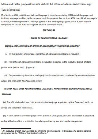Sample Article Proposal