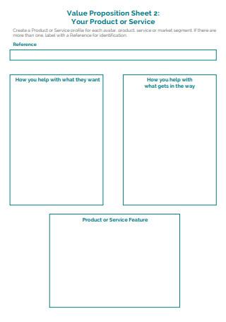 Sample Value Propositions Worksheet