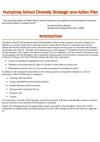 School Diversity Strategic and Action Plan