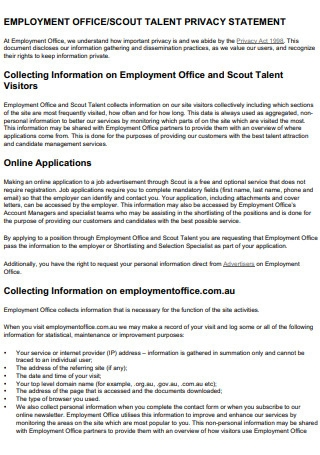 Scout Talent Privacy Statement