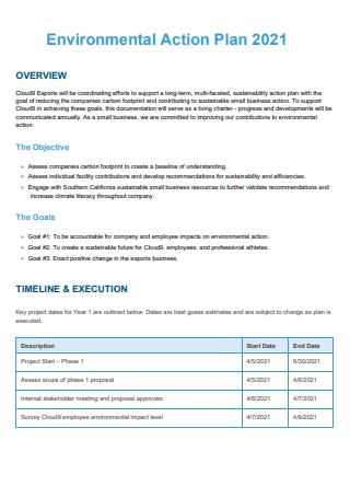 Simple Environmental Action Plan