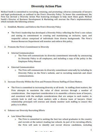 Standard Diversity Action Plan