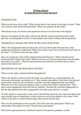 Teacher Action Research Report