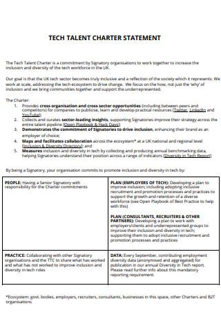 Tech Talent Charter Statement