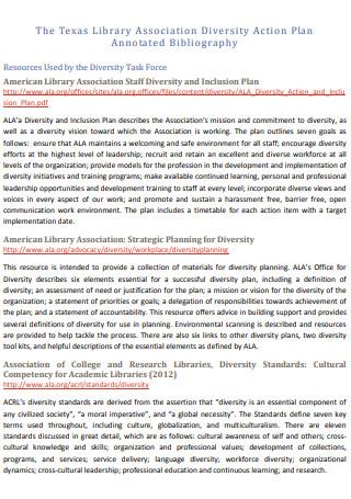 Texas Library Association Diversity Action Plan