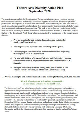 Theatre Arts Diversity Action Plan