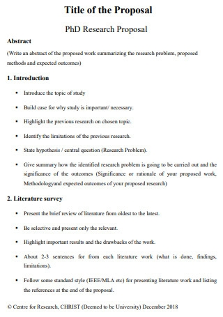 Title of PhD Research Proposal
