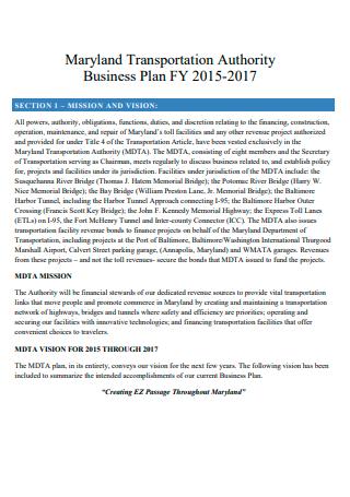 Transportation Authority Business Plan