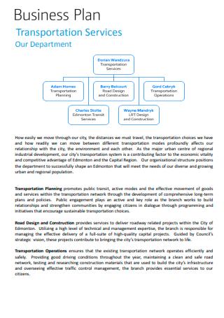 Transportation Services Business Plan