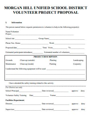 Volunteer Project Proposal Example