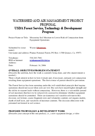 Watershed and Air Project Management Proposal