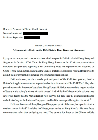World History Research Proposal
