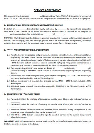 Basic Travel Services Agreement