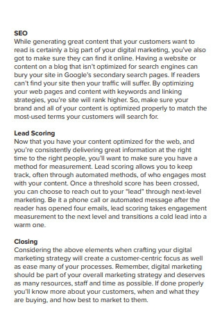 Best Practices Digital Marketing Strategy