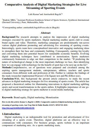 Comparative Analysis of Digital Marketing Strategies