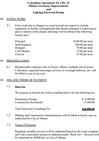 Consultation Fee Proposal