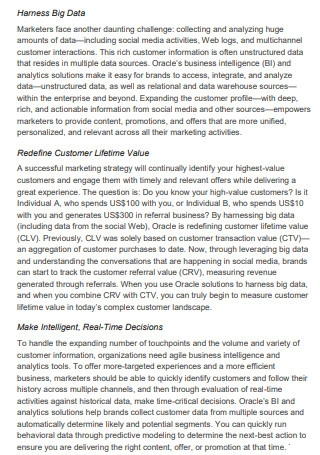 Customer Experience for Marketing Executive Strategy Brief