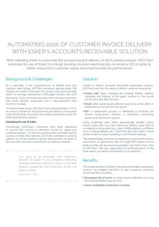 Delivery Customer Invoice