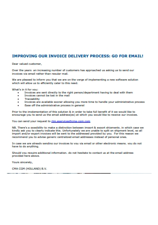 Delivery Process Invoice