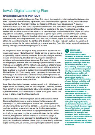 Digital Learning Plan in PDF
