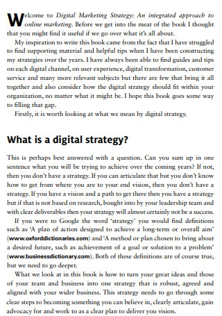 Digital Marketing Strategy integrated Approach