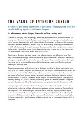 Draft Interior Design Scope of Work