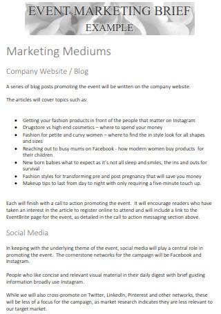 Event Marketing Brief