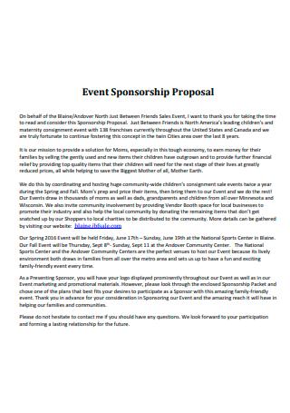 Event Sponsorship Proposal in PDF