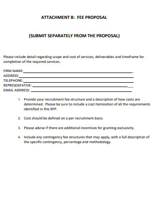 Fee Proposal Template