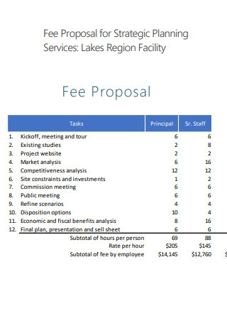 Fee Proposal for Strategic Planning