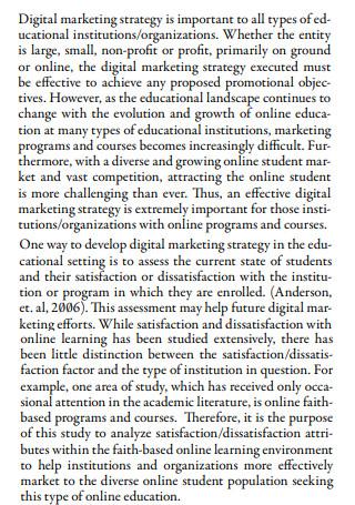 Formulating Digital Marketing Strategy