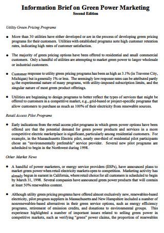 Green Power Marketing Brief