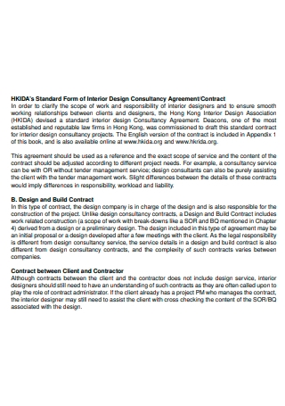 Interior Design Scope of Work Agreement