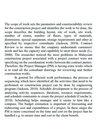 Interior Design Scope of Work Format