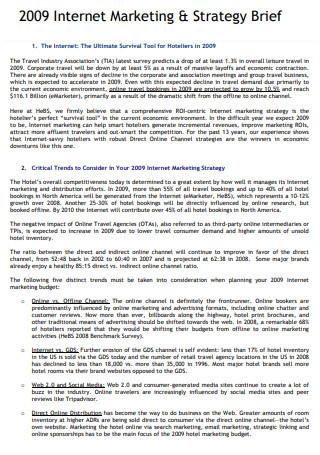 Internet Marketing Strategy Brief