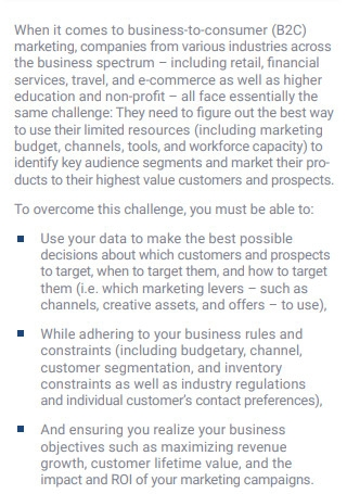 Marketing Campaign Optimization Brief Solution