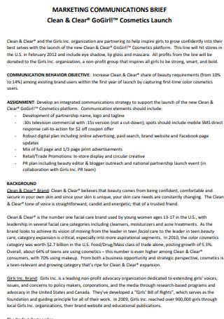 Marketing Communications Brief