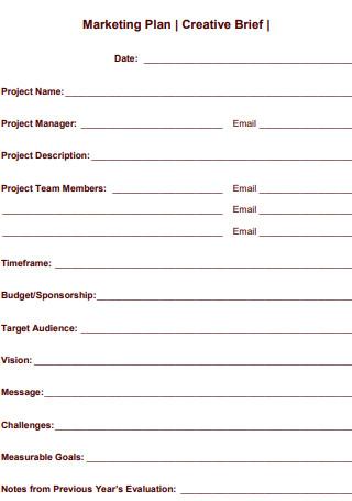Marketing Plan Brief