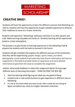Marketing Scholarship Brief