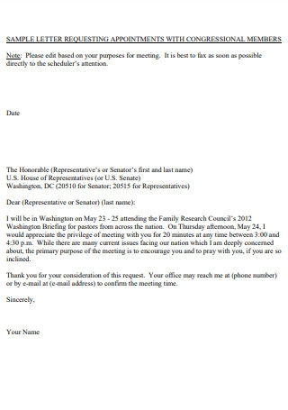Meeting Request Appointment Letter