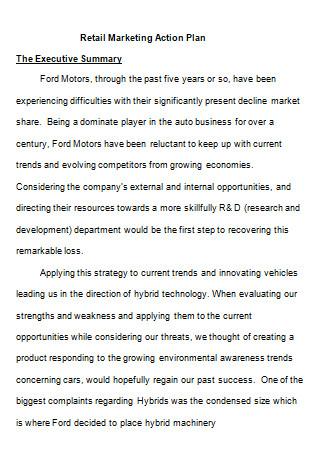 Retail Company Marketing Plan
