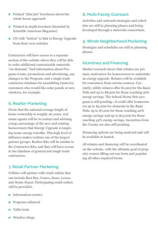 Retail Marketing And Communication Plan