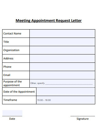 Sample Meeting Appointment Letter