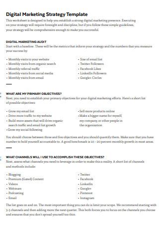 Simple Digital Marketing Strategy