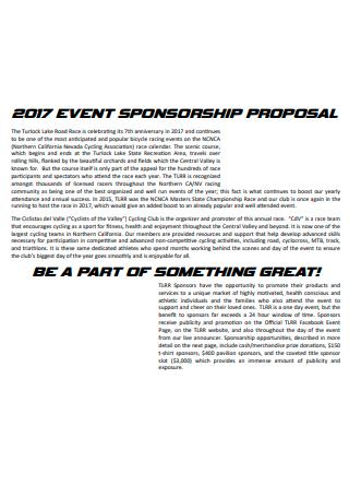 Standard Event Sponsorship Proposal