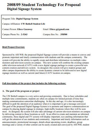 Student Technology Fee Proposal