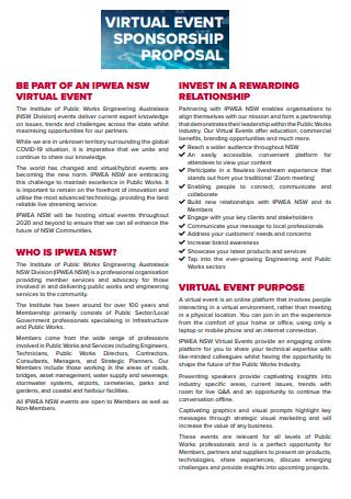 Virtual Event Sponsorship Proposal